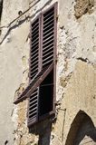 Window shutter. An old window in Italy royalty free stock photo