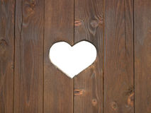 Window shutter with a heart Stock Images