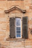 Window with shutter - historical building Stock Photography