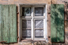 Window with shutter - historical building Royalty Free Stock Images