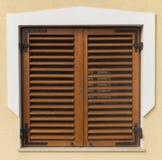 Window shutter. In lake Balaton Stock Images