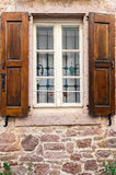 Window Shutter. Window with wooden shutters, detail from Cunda Ayvalik Royalty Free Stock Images