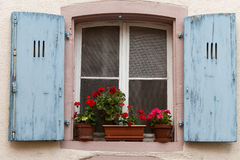 The window with shutters Royalty Free Stock Photography