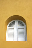 Window with shutters. Window with white shutters royalty free stock photos