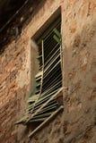 Window shutters broken Stock Photography