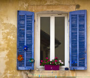 Window with shutters,Cassis, France Royalty Free Stock Photos