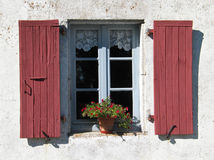 Window with shutters, Cevennes, France Royalty Free Stock Photos