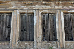 Window shutters chipped wall Stock Photography