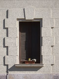 Window with the shutters closed Stock Images