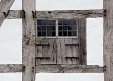 The window shutters of farmhouse Royalty Free Stock Photos