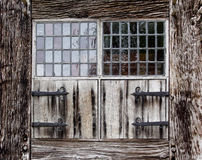 Window shutters of a farmhouse Royalty Free Stock Image