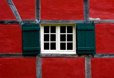Window with shutters of farmhouse Royalty Free Stock Photo