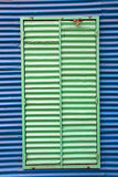Window with shutters in La Boca Royalty Free Stock Images