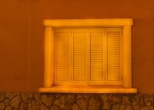 Window shutters on an old european style building, architectural Royalty Free Stock Image