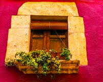 Window shutters on an old european style building, architectural Stock Photos