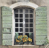 Window and shutters in old house Stock Photos