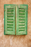 Window shutters on old house Royalty Free Stock Image