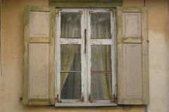 Window with shutters. Old house Stock Image