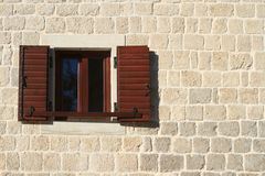 Window with shutters open closeup. Stock Image