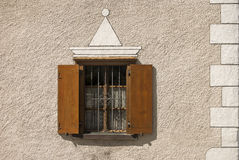 Window shutters and painting Royalty Free Stock Photography