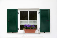 Window. With shutters and  sills Stock Photography