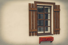 Window with shutters Stock Images