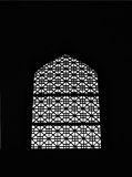 Window silhouette. Silhouette of an old house latticed window Royalty Free Stock Image