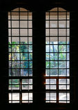 Window silhouette. Silhouette of window with a grid pattern Royalty Free Stock Photos