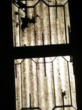 Window Silhouette. An old window at the ceiling Royalty Free Stock Photos