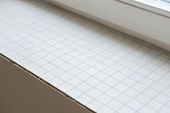 Window sill from mosaic tiles Royalty Free Stock Photography