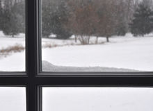 Window Sill With Snoww Stock Photography