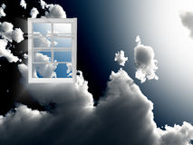 Window in sky Royalty Free Stock Images