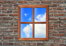 Window with sky. Royalty Free Stock Photos