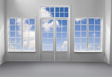Window and The Sky Stock Image