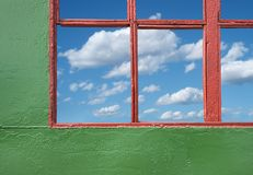 Window and sky Stock Images