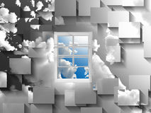 Window in sky Stock Photo