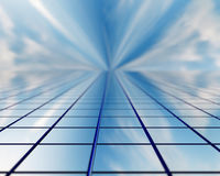 The window of a skyscraper stretching into the future Stock Photos