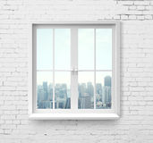Window with skyscraper view Stock Images