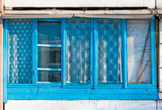 Window of Soviet Building Royalty Free Stock Photography