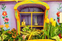 A window on Spring at Macy`s store Royalty Free Stock Image