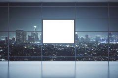 Window with square banner Royalty Free Stock Photo