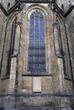 Window of St. Vitus Cathedral Stock Image