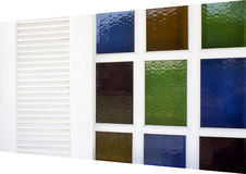 Window and Stained Glass. White Window and Stained Glass look Modern Design Stock Photography