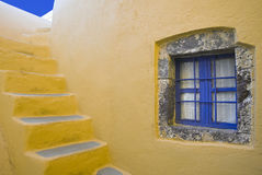 The window and stairs of Santorini Stock Images