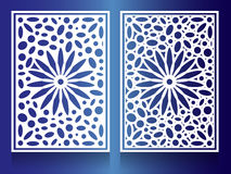 Window Steel white flower Combination of circles and ovals Background Pattern Royalty Free Stock Image