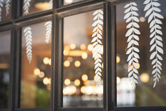 Window and sticker decoration Stock Photography