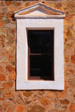Window in Stone Wall. A Simple Window in a Stone Abbey Wall, New Norcia, Western Australia Stock Photography