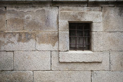 Window in Stone Wall Stock Images