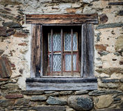 Window  in  the stone wall Stock Photos