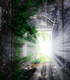Window in the stone wall Royalty Free Stock Photo